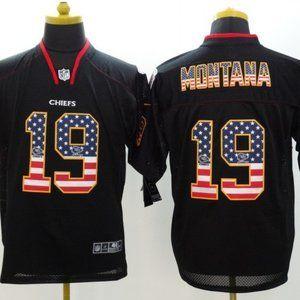 Men's Kansas City Chiefs #19 Joe Montana Jersey